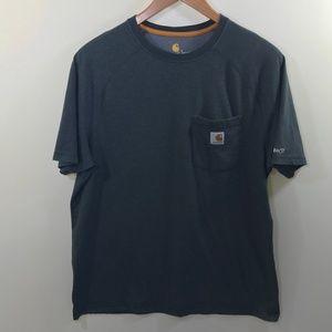 Carhartt Men's Gray Relaxed Fit T-Shirt Size L